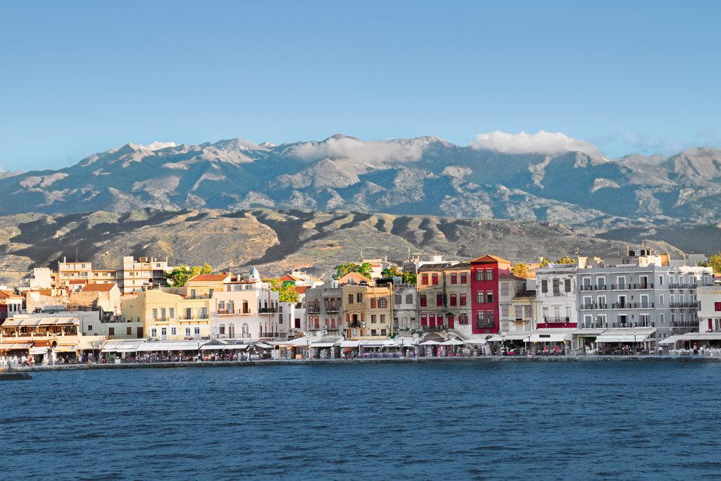 Hafen von Chania auf Kreta, Griechenland