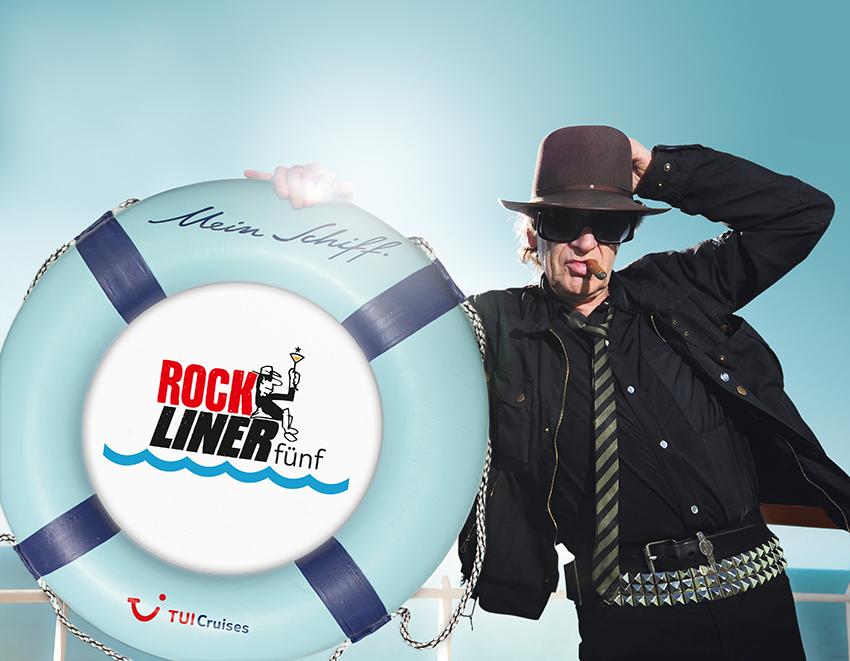 Der Rockliner 5 an Bord der Mein Schiff ist am Start. Natürlich dabei: Udo Lindenberg