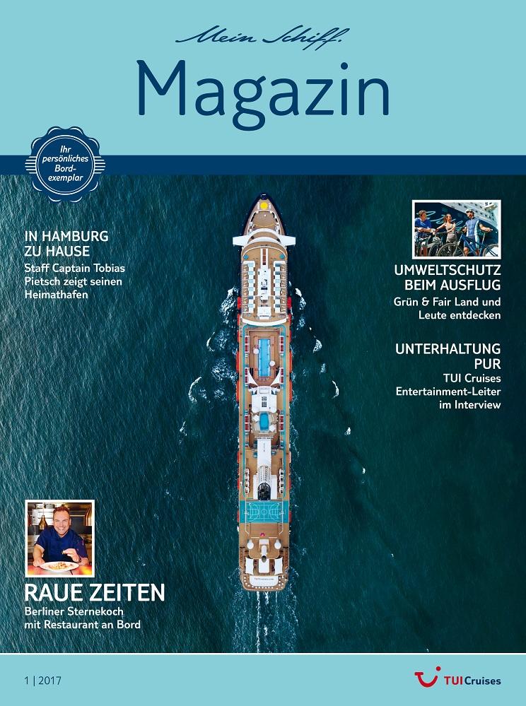 Das neue Mein Schiff Magazin 1/2017