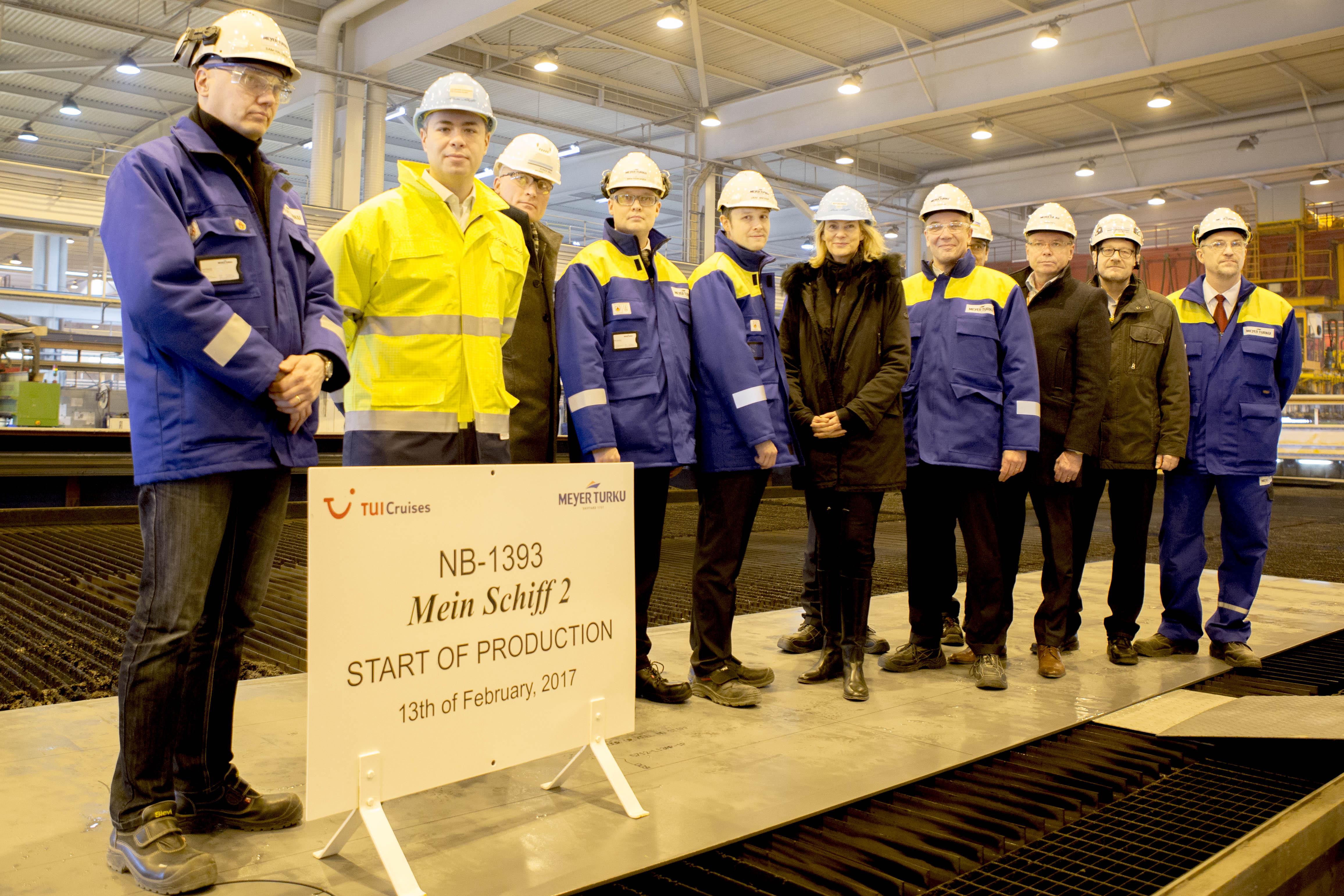 Offizieller Baustart der neuen Mein Schiff 2 von TUI Cruises