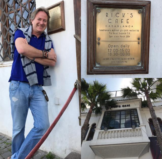 Mein Schiff Fan Frank Behrendt vor Ricks Cafe in Casablanca