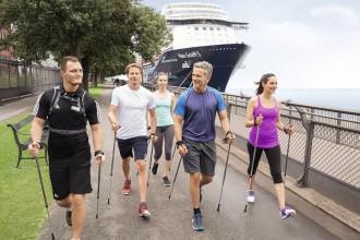 Nordic Walking beim Mein Schiff Landgang