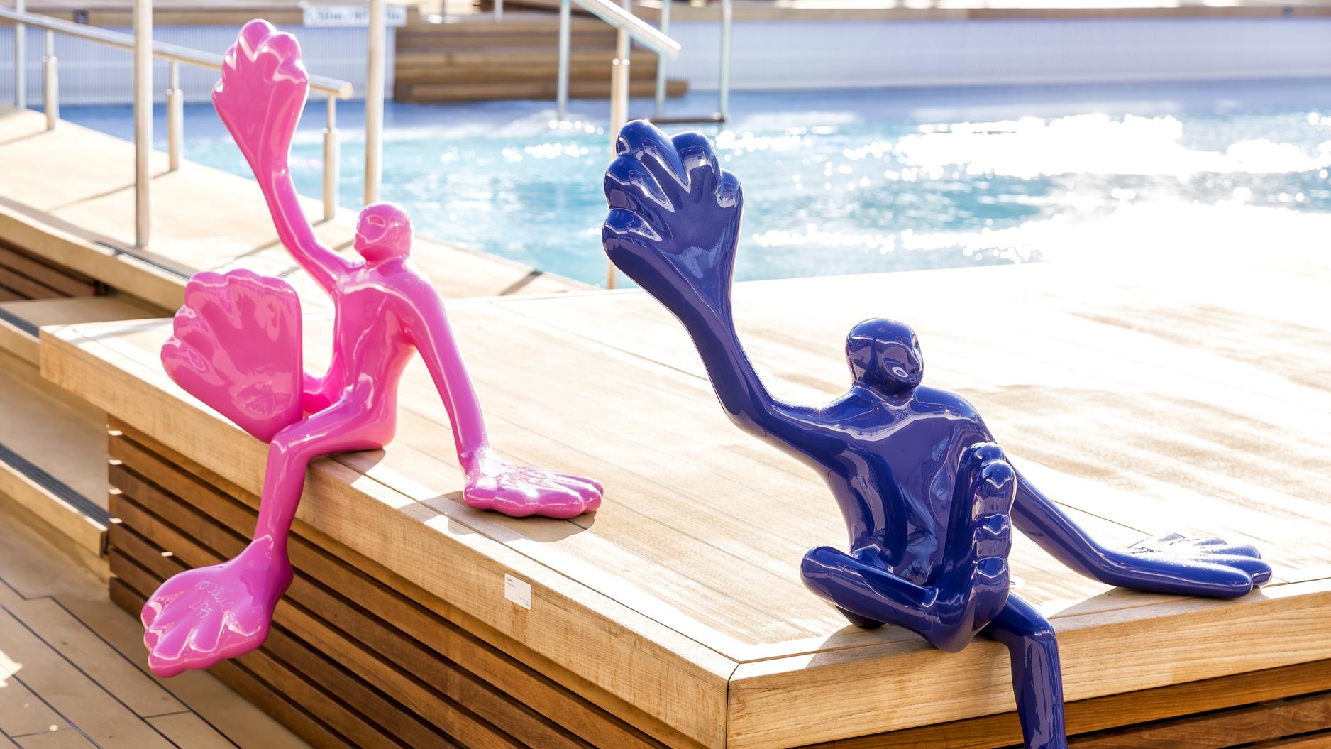 Mein Schiff Kunst: Flossis der Künstlerin Roslie
