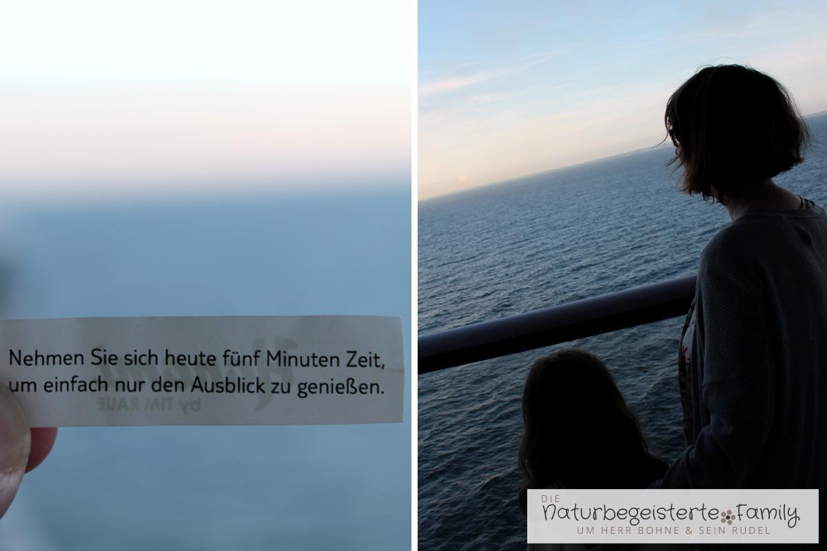 Das ist echtes Urlaubsfeeling. Einfach nur aufs Meer schauen. Freiheit pur