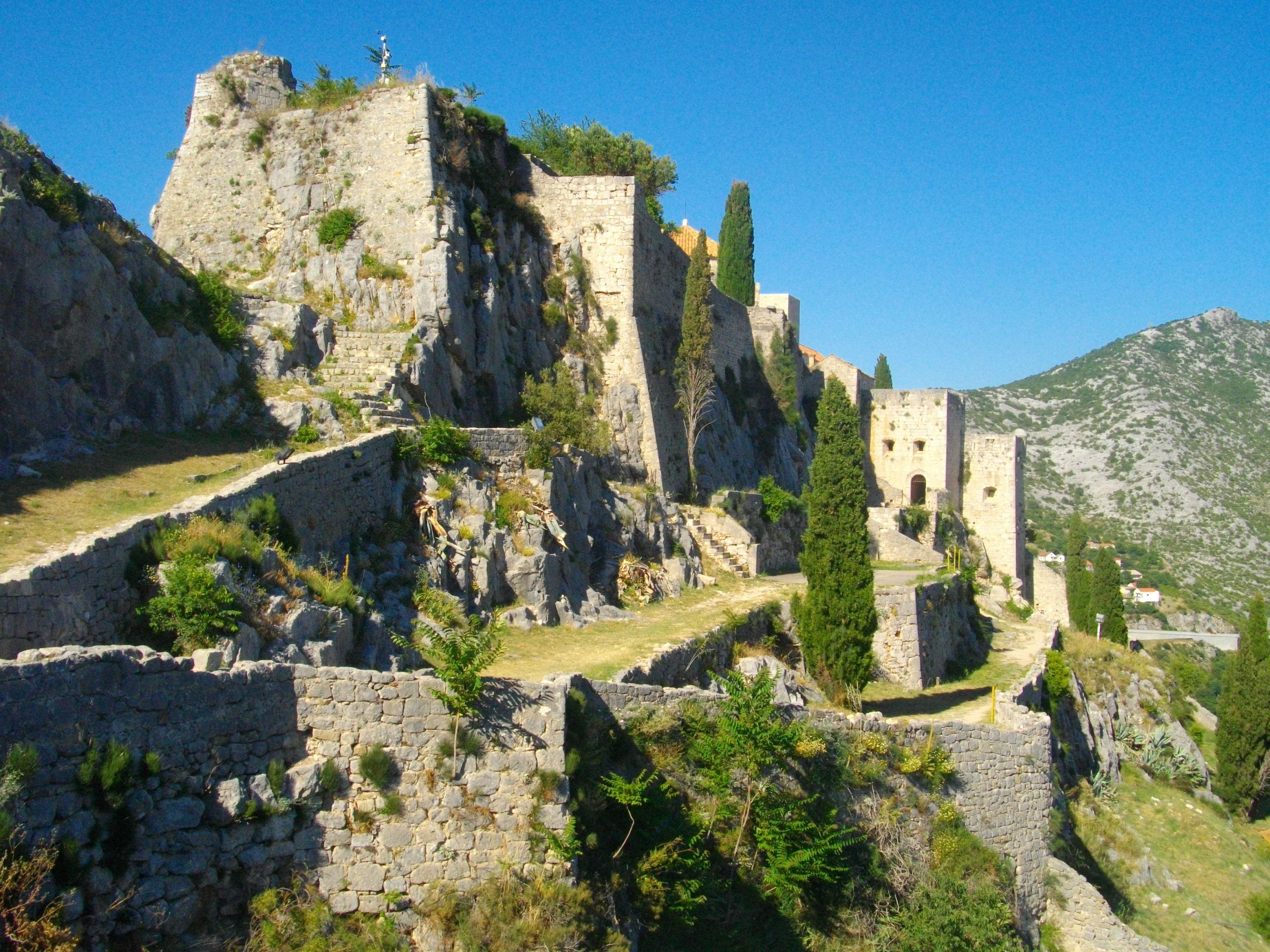 Die Festung Klis im Landesinneren bei Split