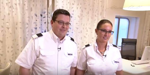 Mein Schiff Reisemanager Doreen Münch und Christian Prenger