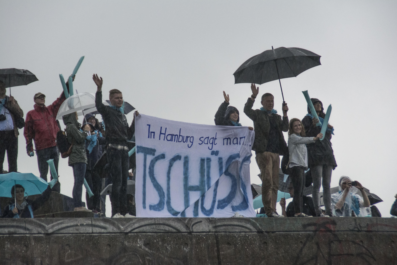 Tschüss: Mein Schiff 1 in Hamburg