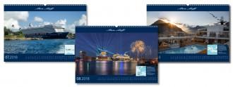 Impressionen des Mein Schiff Kalenders 2018