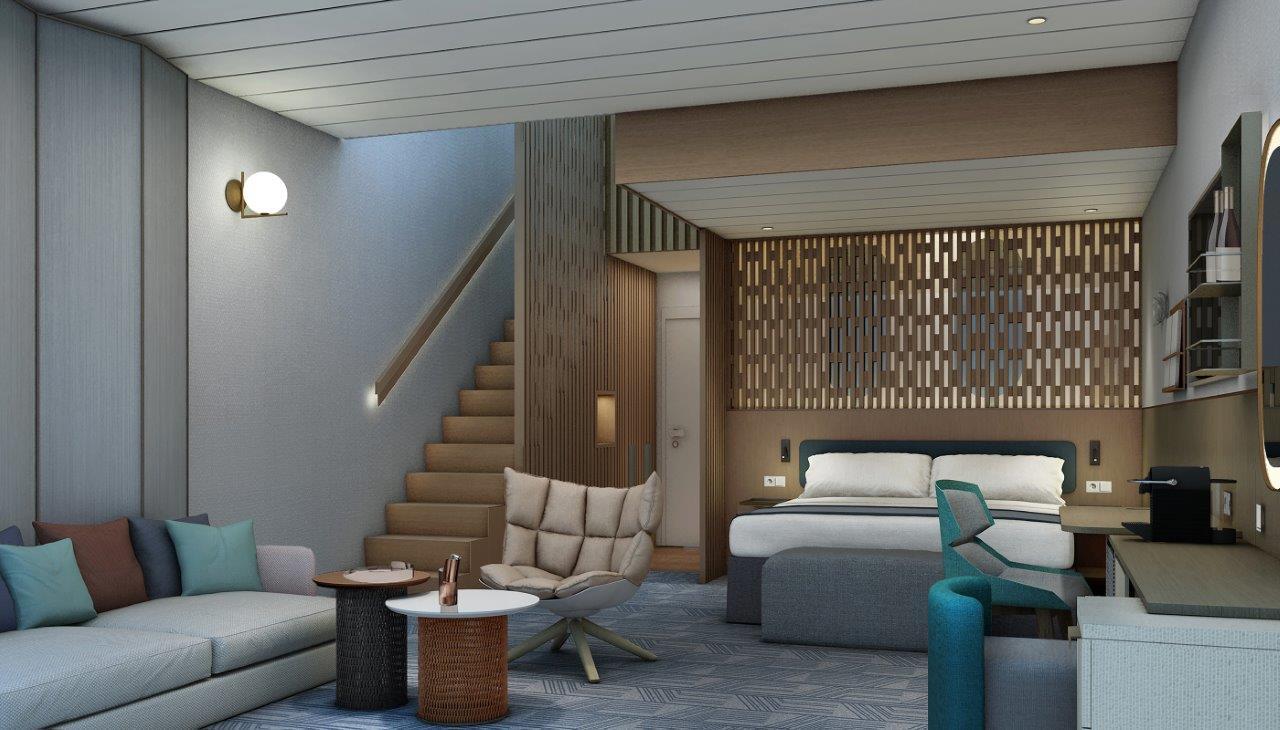 Von Star-Designerin Patricia Urquiola gestaltet: die beliebte Himmel & Meer Suite