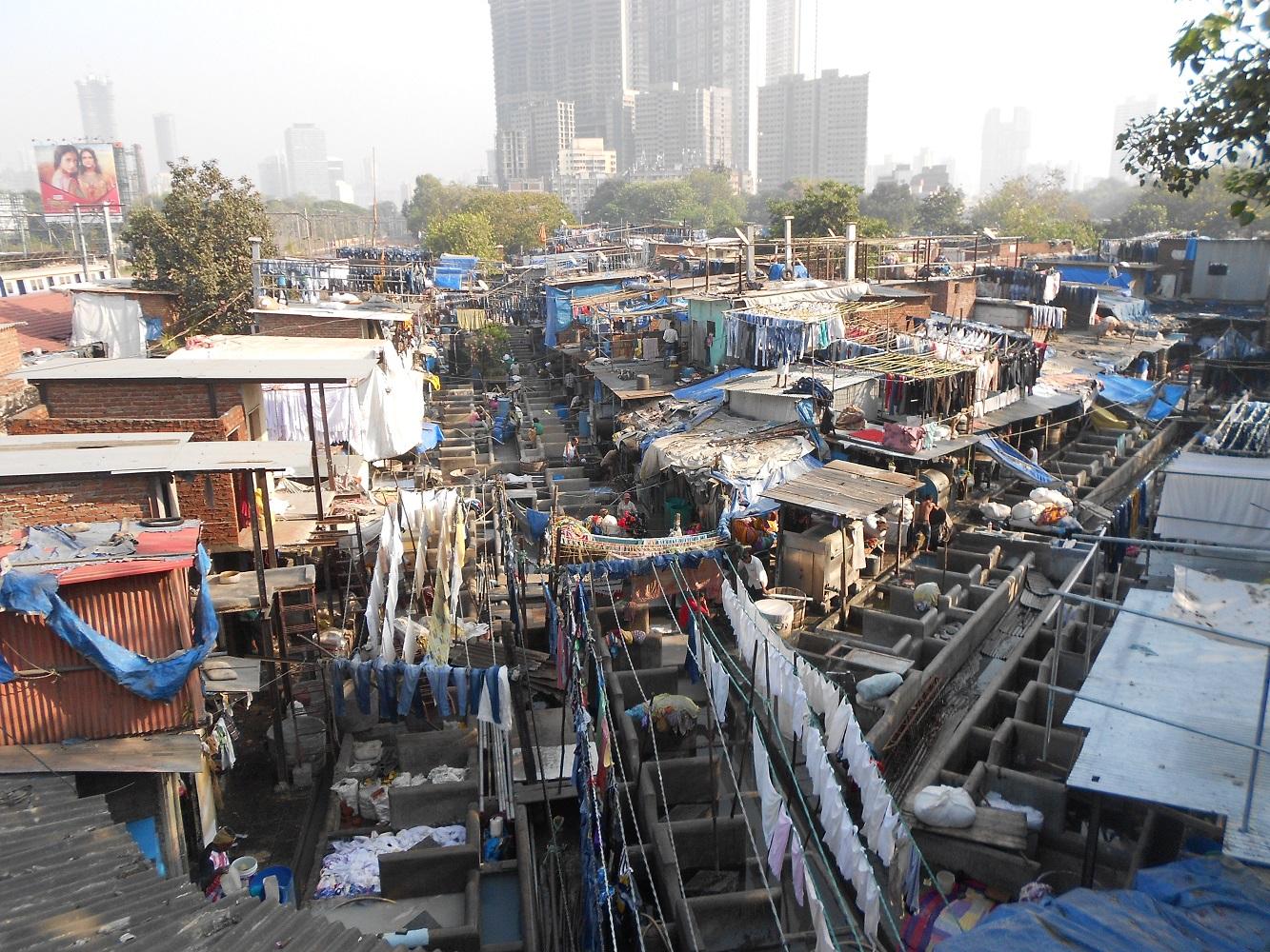 Dobi Ghat, die berühmte Wäscherei.