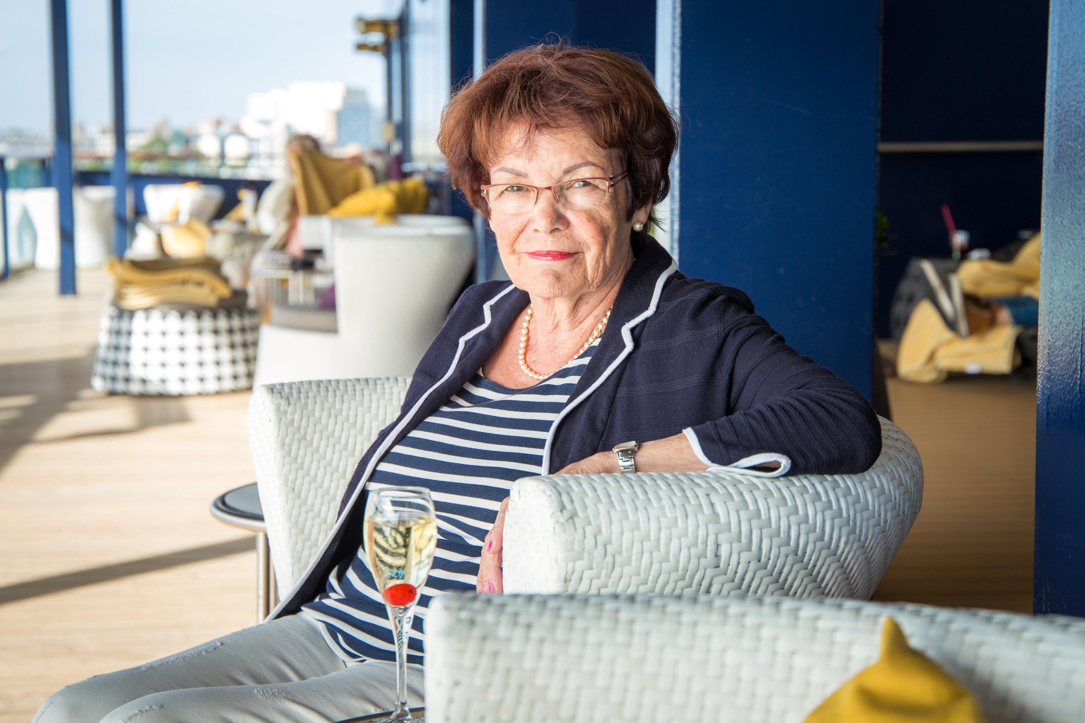 Entspannen am Seetag für Mein Schiff Fan Ingrid Malmström kein Pronlem