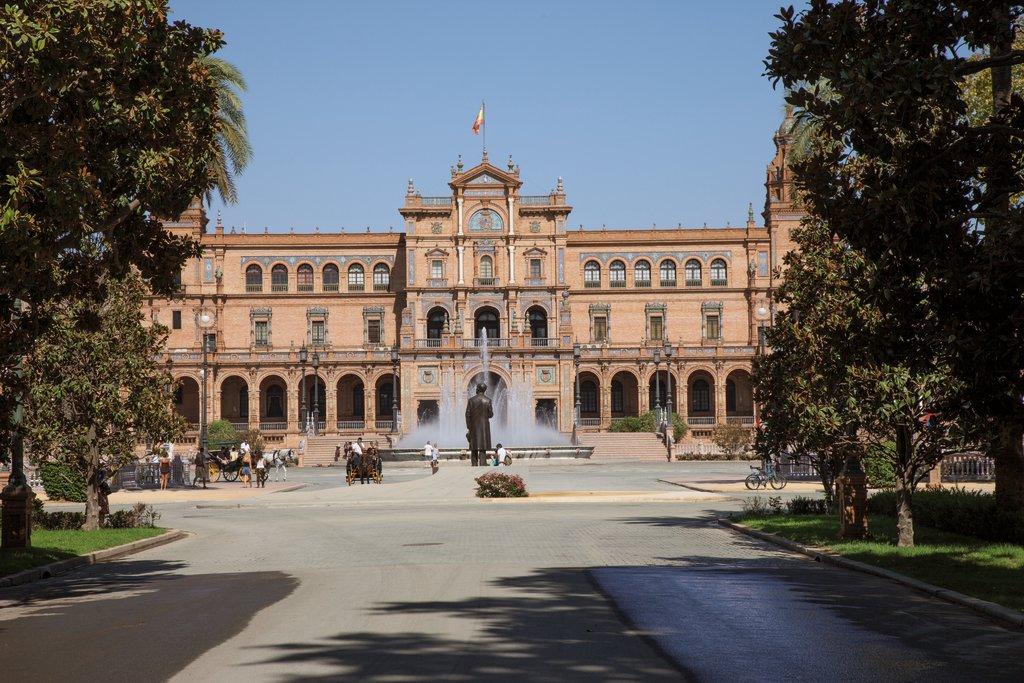 Mein Schiff Sehenswürdigkeit: Die Plaza de España in Sevilla