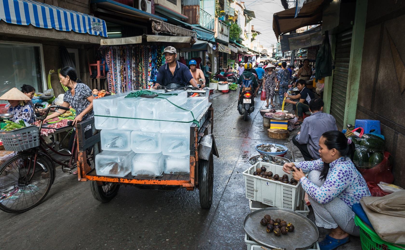 Bunt, laut, voll: Ho-Chi-Minh-Stadts Märkte