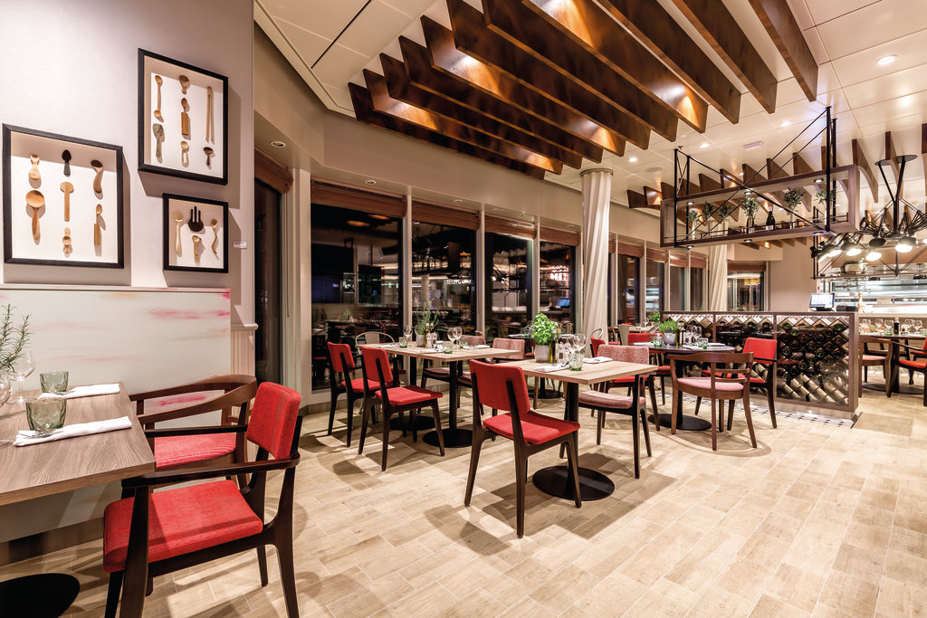 Das Restaurant Osteria Pizza e Pizza auf der Mein Schiff 5 und Mein Schiff 6