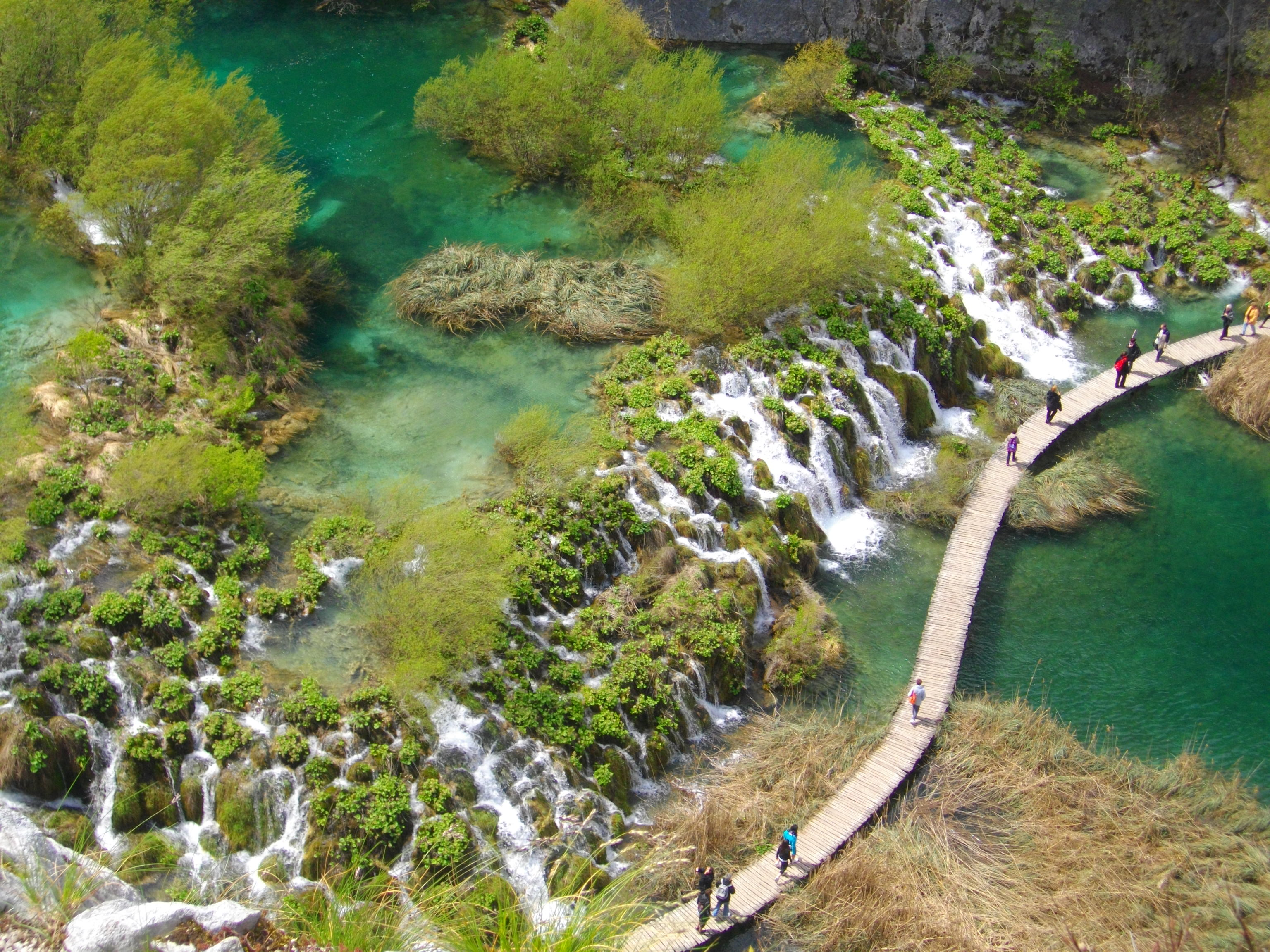 Auf der Welterbeliste der UNESCO: Der Nationalpark um die Plitwitzer Seen im kroatischen Binnenland,