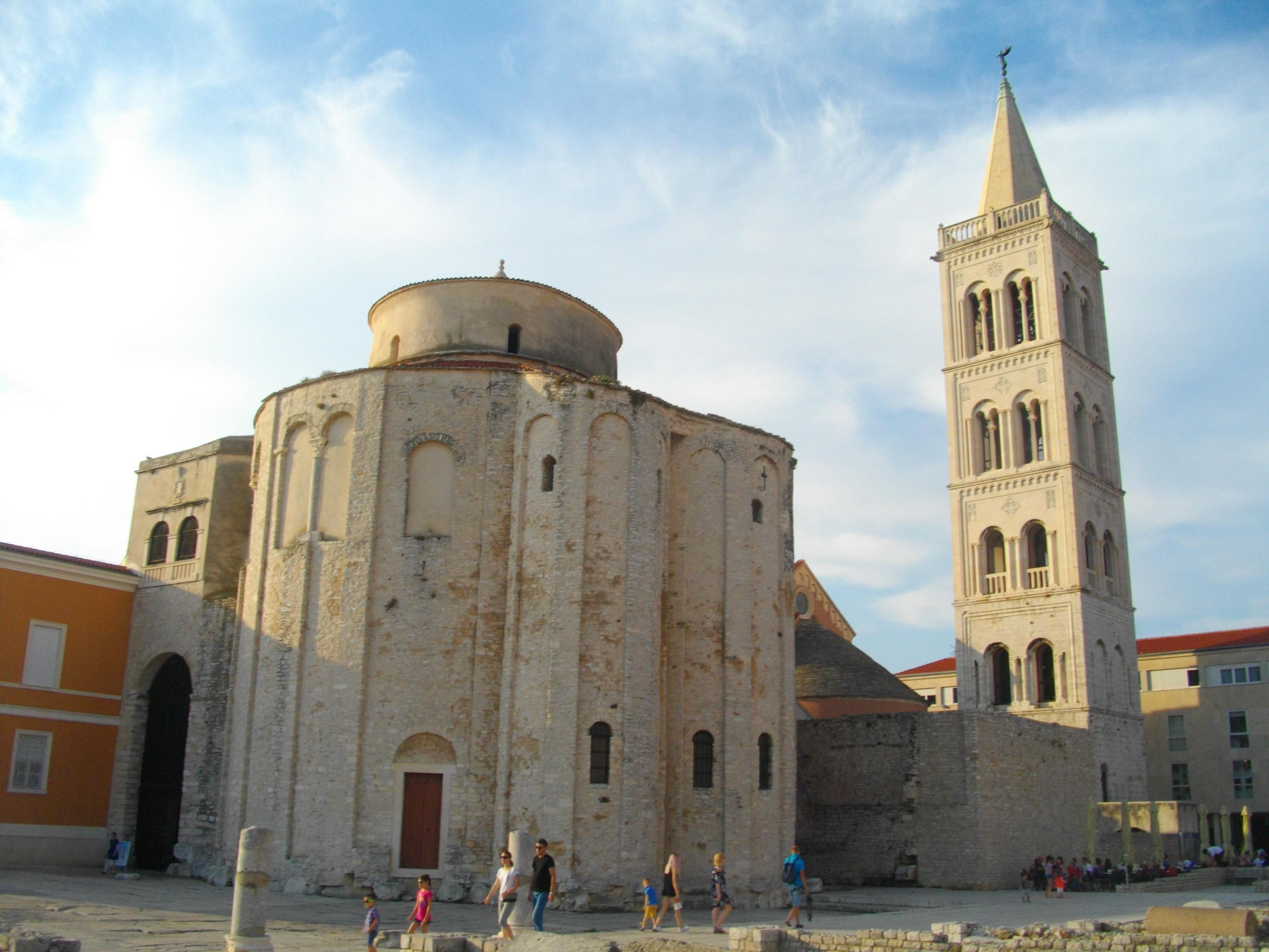 Die Rundkirche Sv. Donat, in der Mein Schiff Destination Zadar