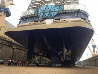 Selten: Der Blick unter die neue Mein Schiff 1