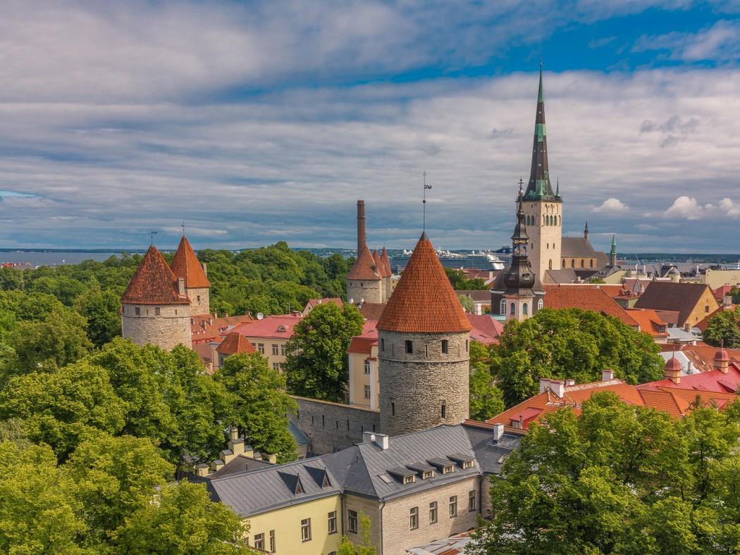 Mein Schiff Reiseziel: Blick über das historische Tallinn