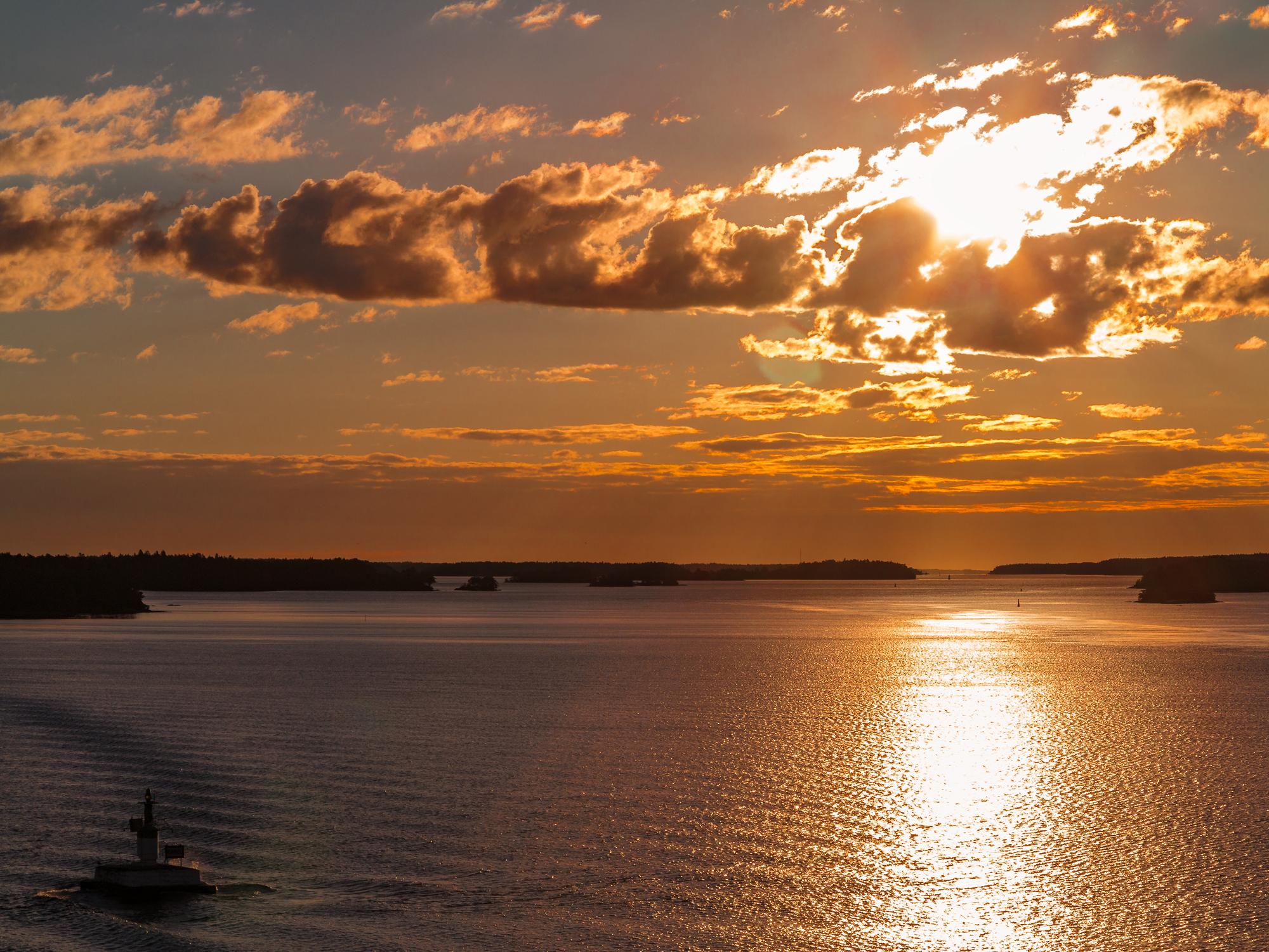 Sonnenuntergang auf der Mein Schiff 6