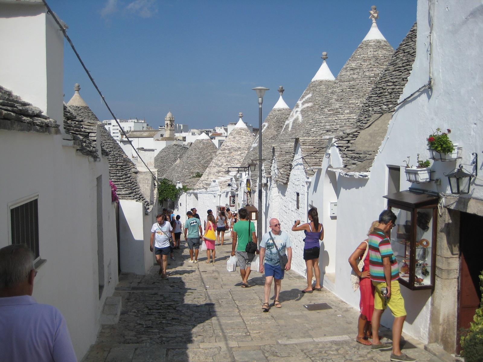 Die drolligen Trulli-Bauten in Alberobello