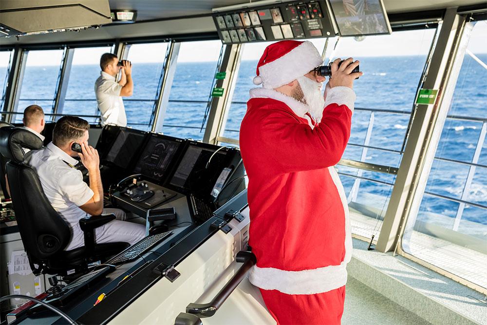 Volle weihnachtliche Fahrt mit TUI Cruises