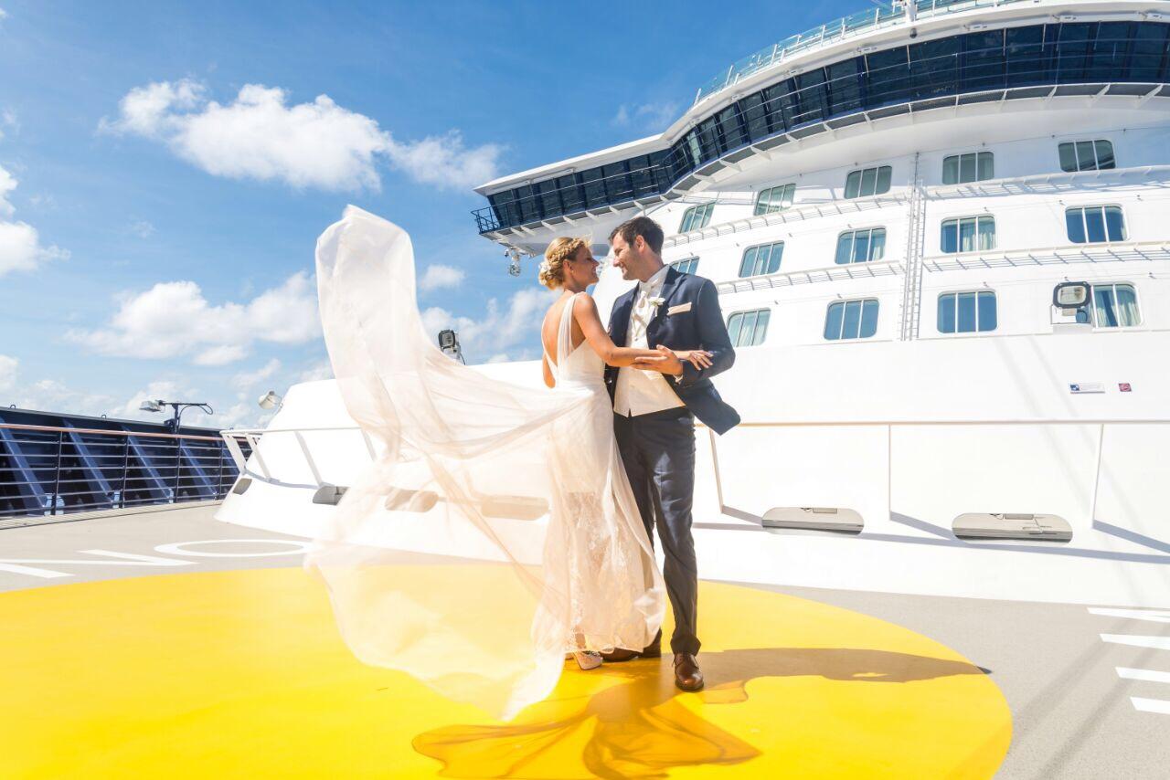 Christina Höhner und ihr Mann auf der Mein Schiff 6