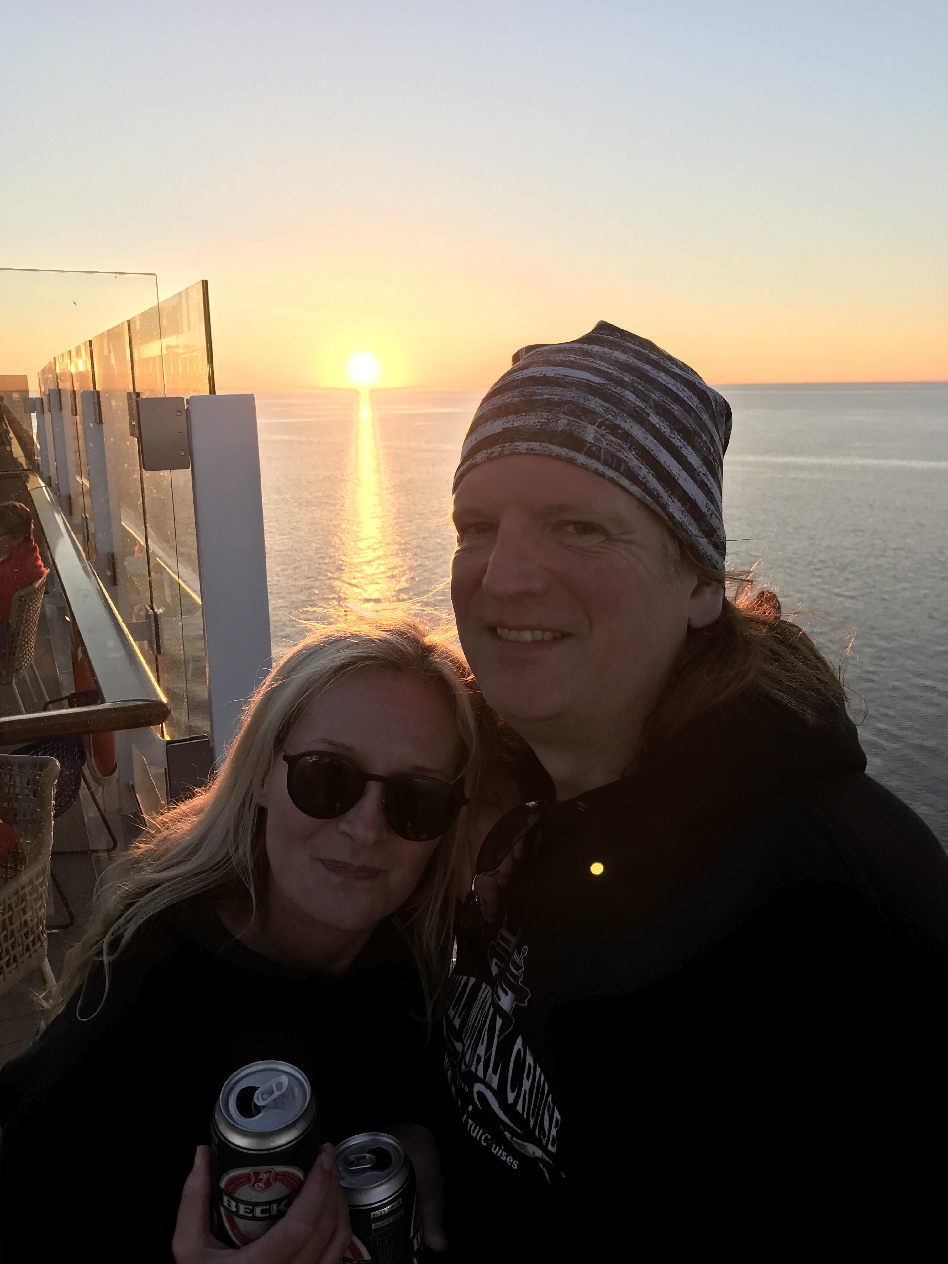 Mein Schiff Stammgäste Silke und Arndt bei der Full Metal Cruises