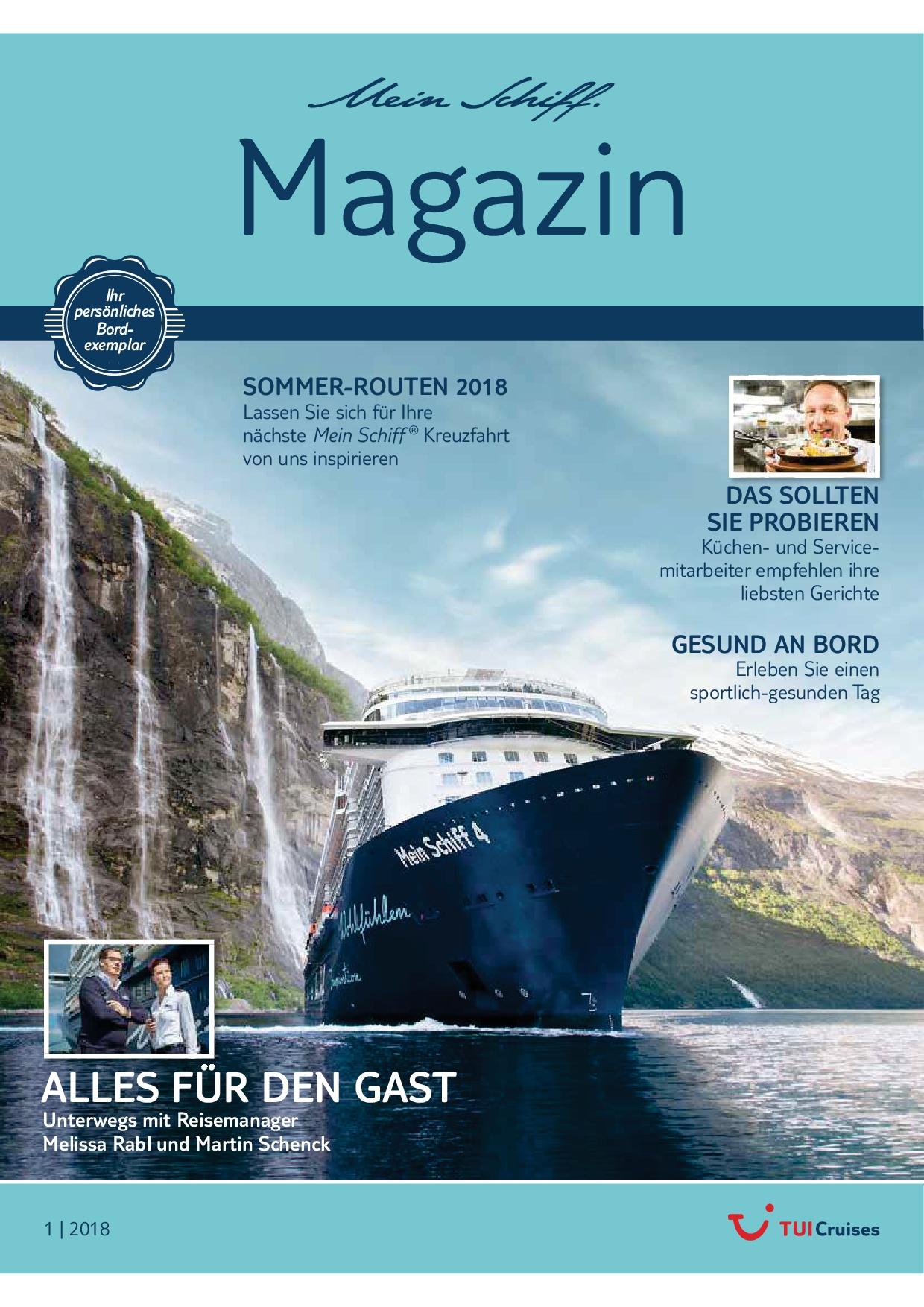 Das Mein Schiff Magazin 1/2018