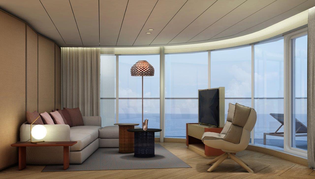Die Panorama Suite auf der neuen Mein Schiff 1