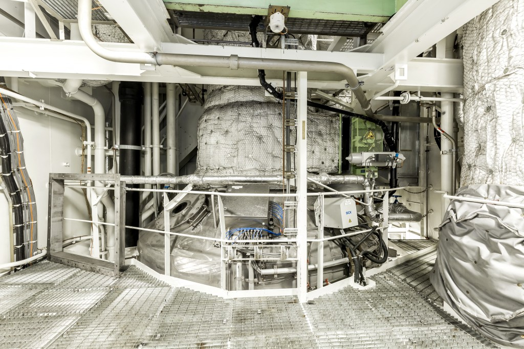 Innovative Technologien an Bord: Das Abgasnachbehandlungssystem reduziert auf den Neubauten der Mein Schiff Flotte die Schadstoffe in den Abgasen deutlich