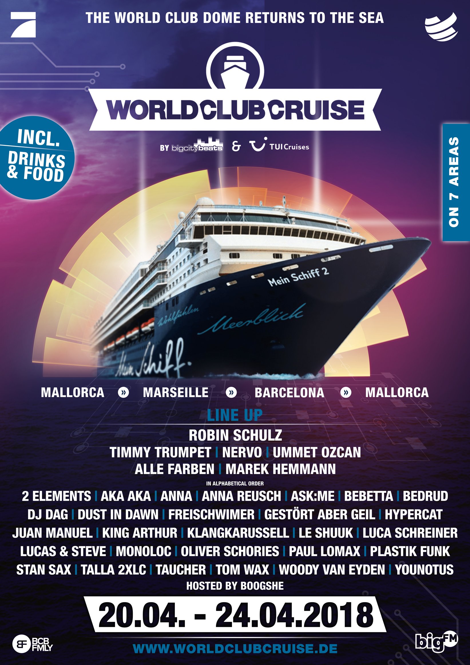 Das offizielle Plakat der World Club Cruise