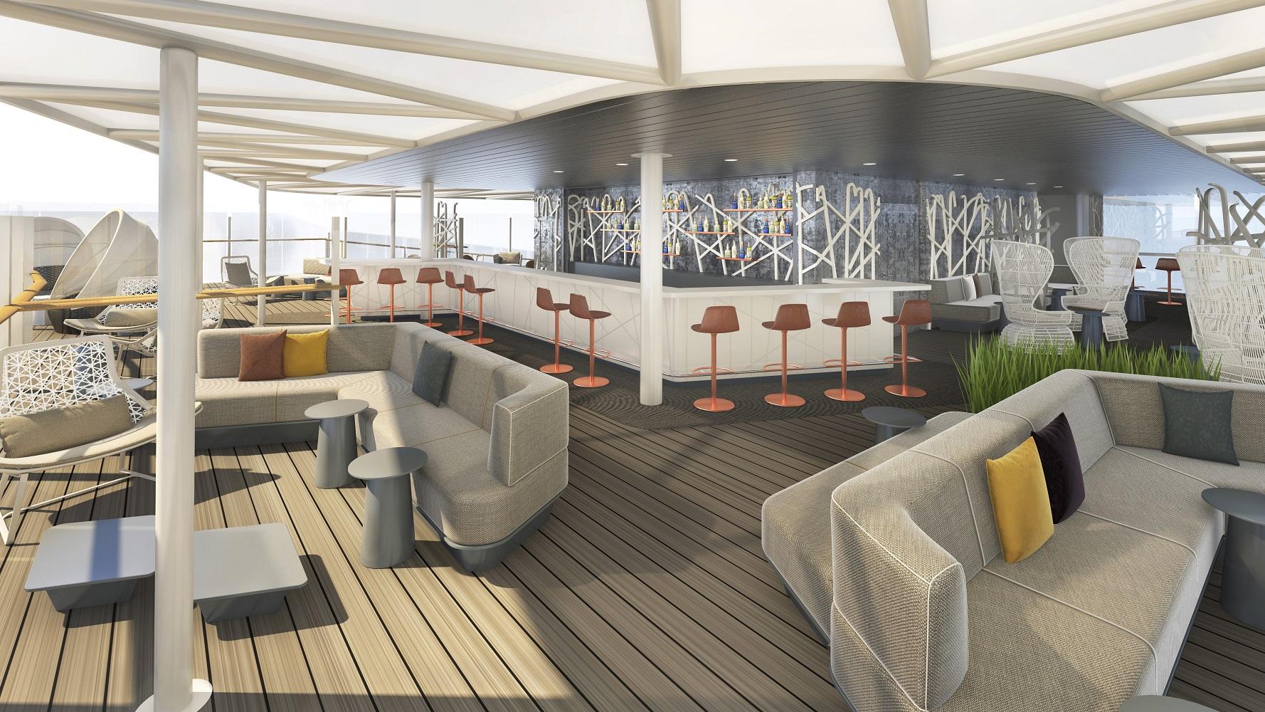 Ganz neue Bar auf der Mein Schiff Flotte - die Hohe Luft Bar
