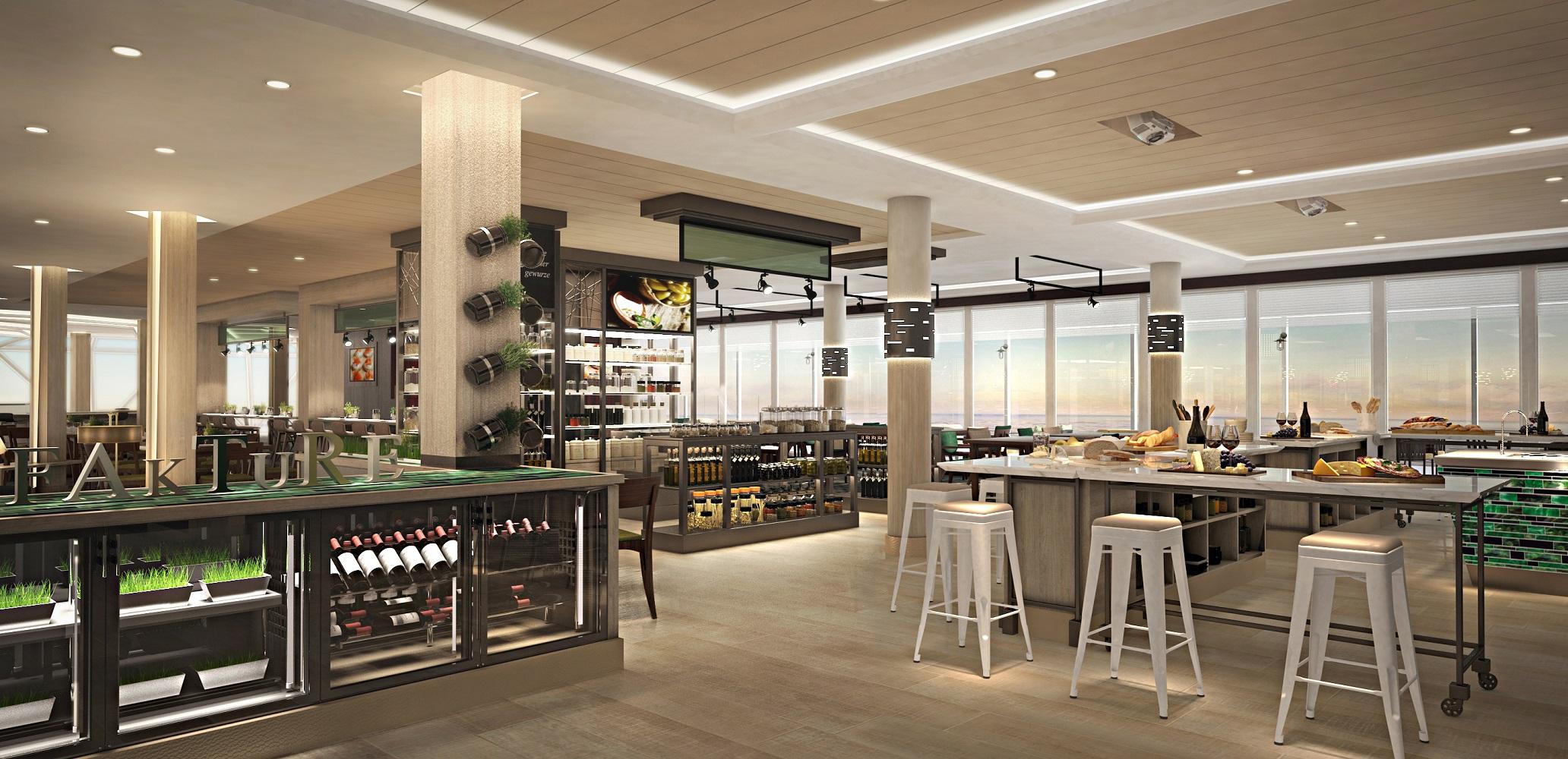 Die Manufaktur – Kreativ Küche auf der neuen Mein Schiff 1 von TUI Cruises