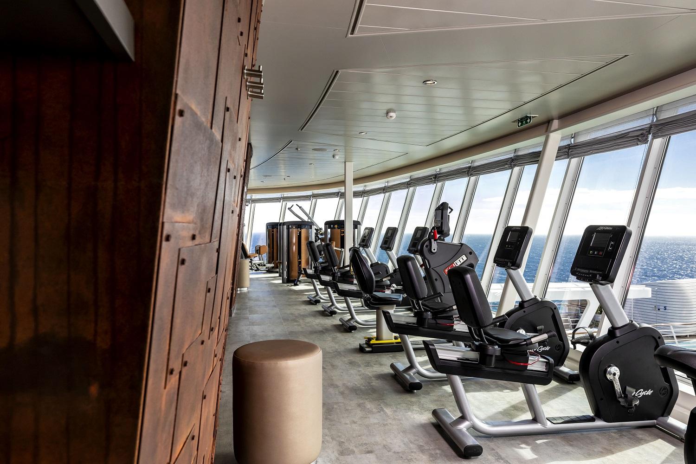 Der Fitnessbereich der neuen Mein Schiff 1