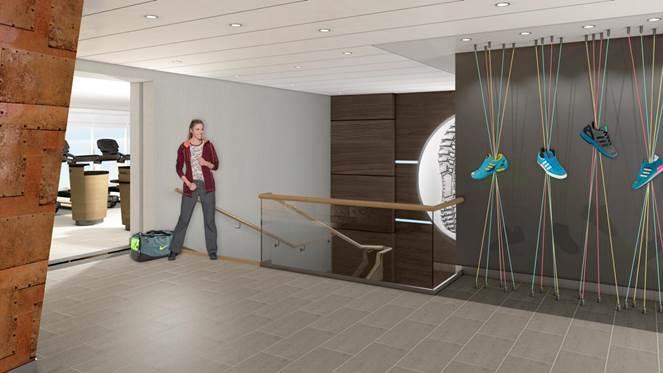 Der Sport & Gesundheit Eingangsbereich auf der neuen Mein Schiff 1