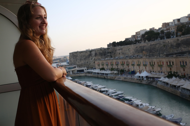 Im Mein Schiff Hafen Dubrovnik: reisereporterIn Carina Doliwa