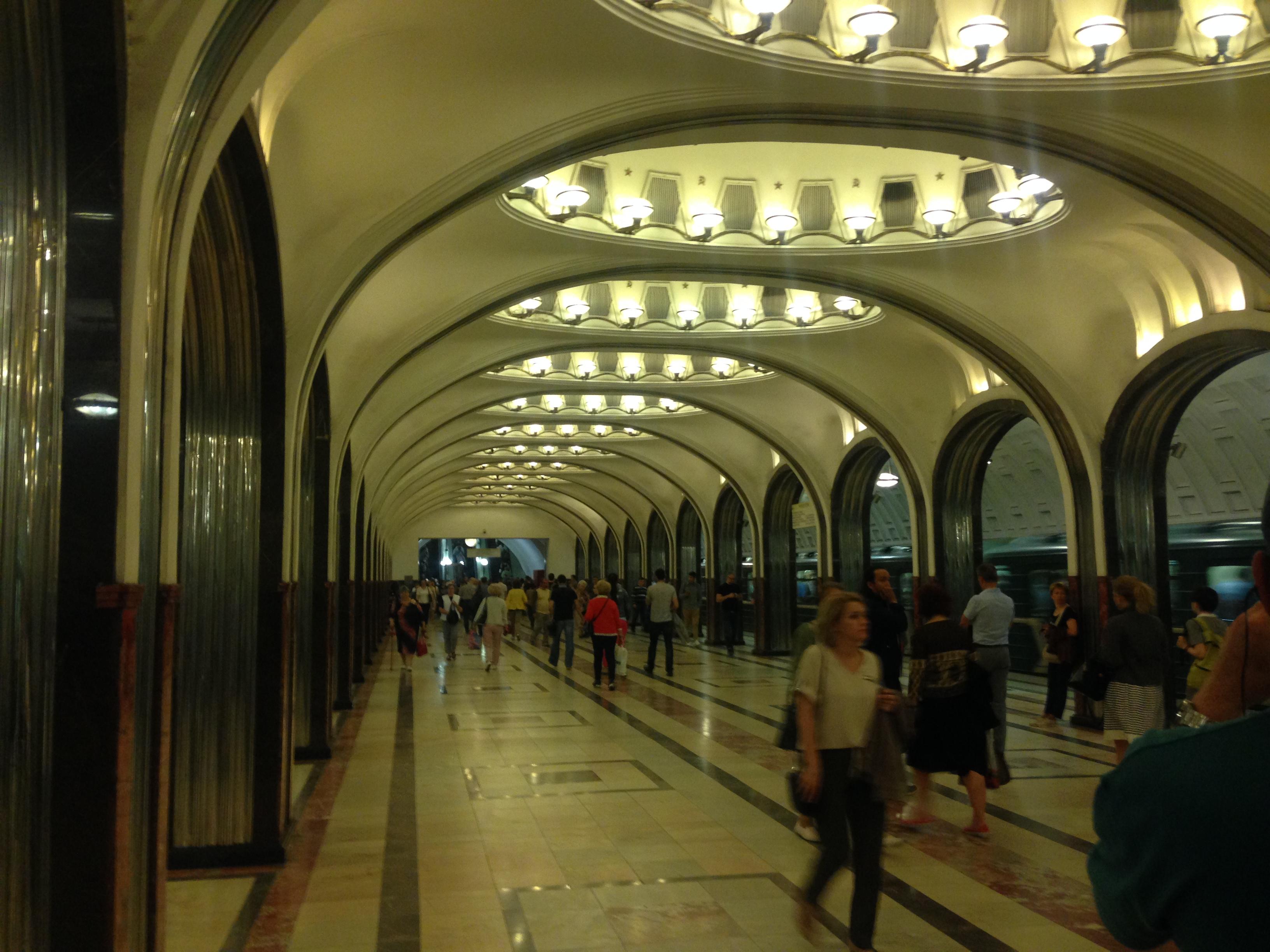 Ein Erlebnis: die prunkvolle Moskauer Metro