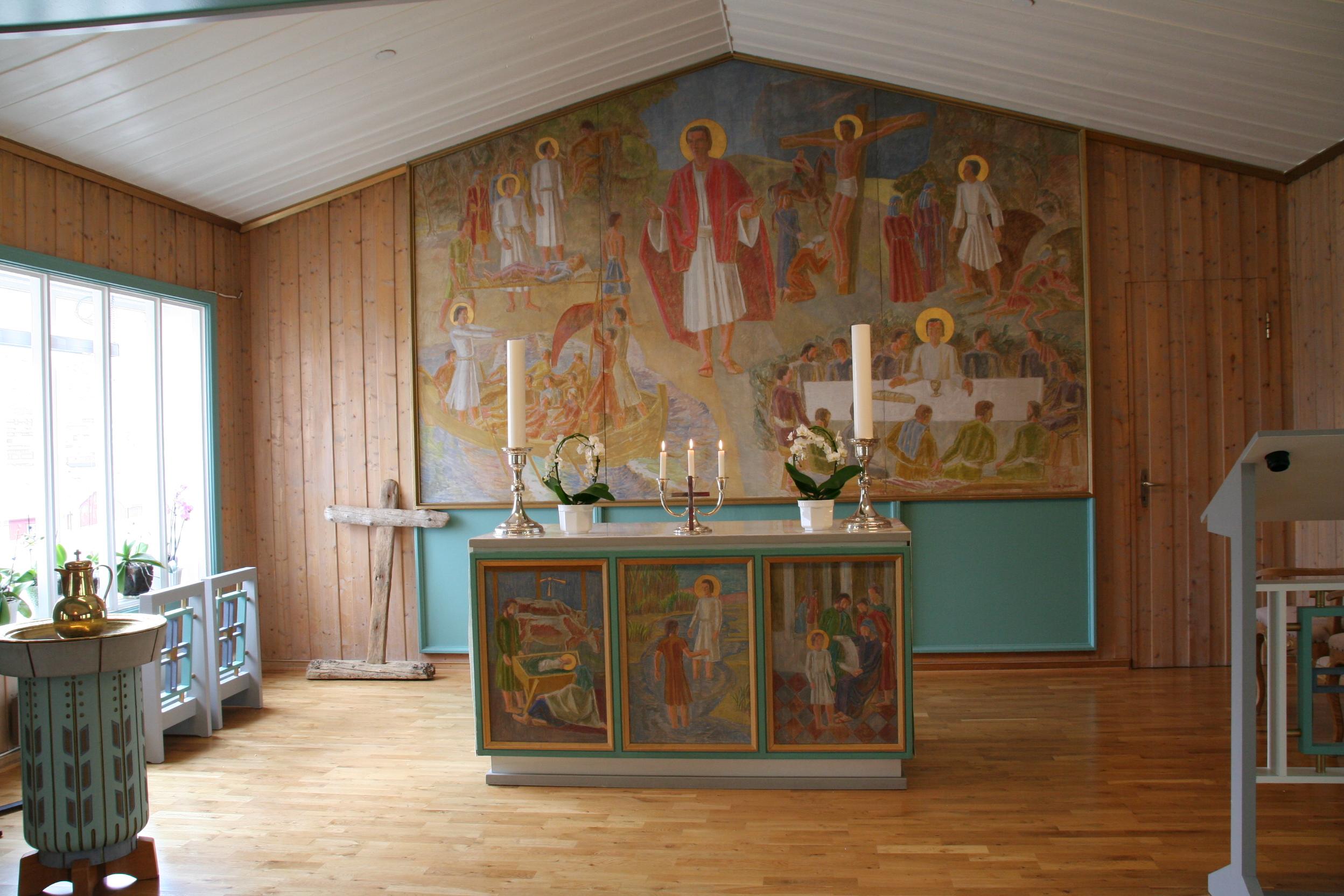 Die Svalbard-Kirche in Spitzbergen