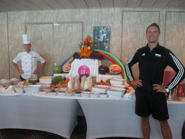 Gesundes Essen auf der Mein Schiff Flotte am Global Wellness Day
