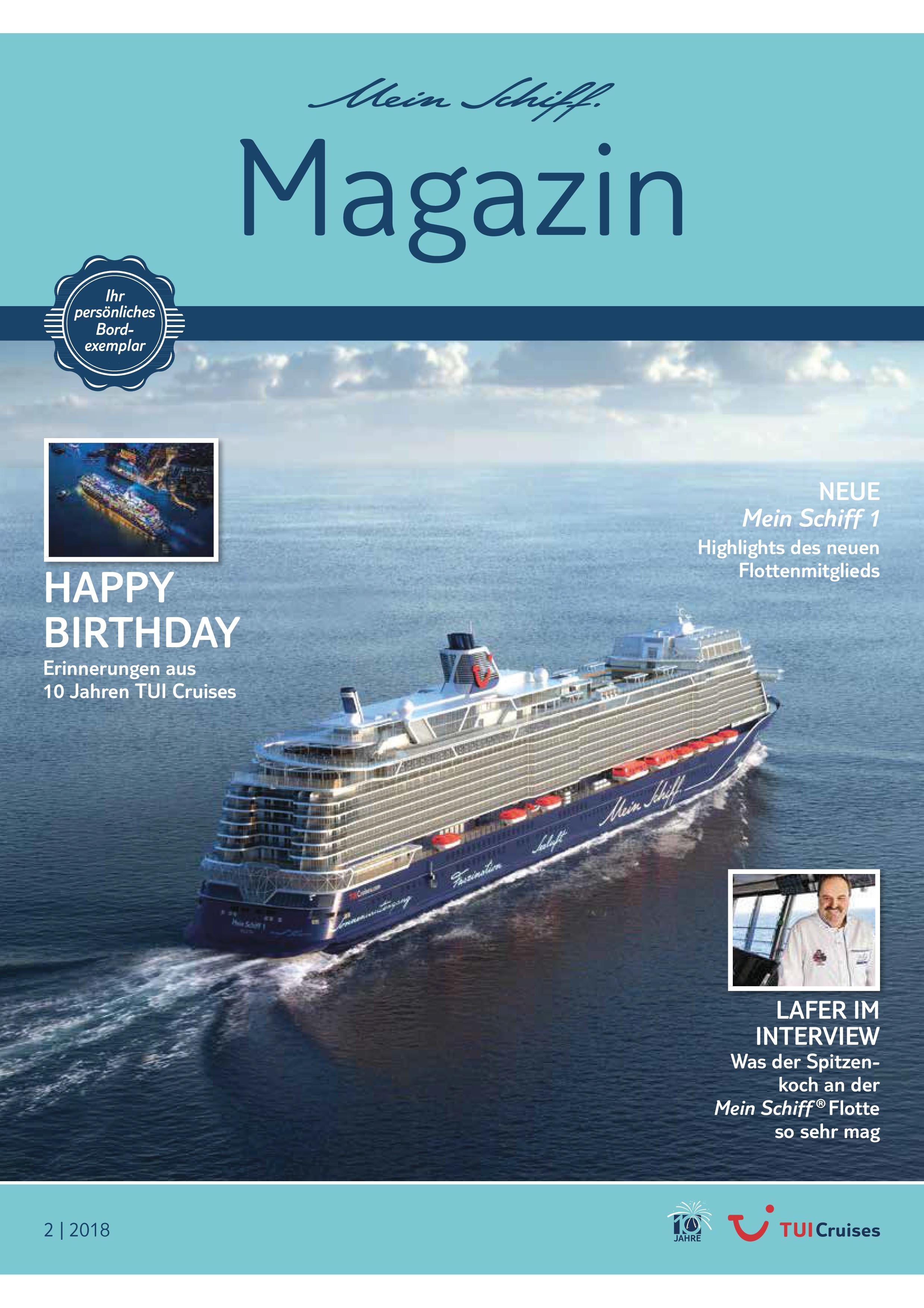 Das Mein Schiff Magazin 1/2019