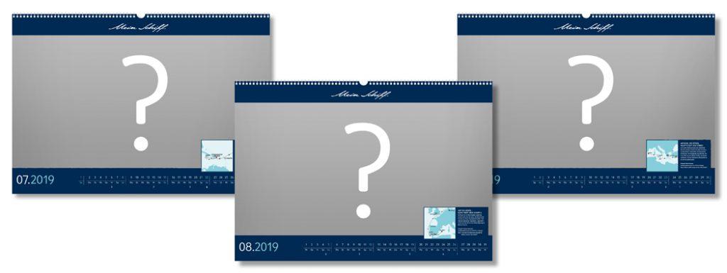 Welche Bilder werden wohl den Mein Schiff Kalender 2019 zieren?