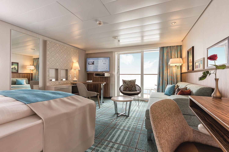 Die ideale Mein Schiff Kabine für Silke und Arndt - die Junior Suite