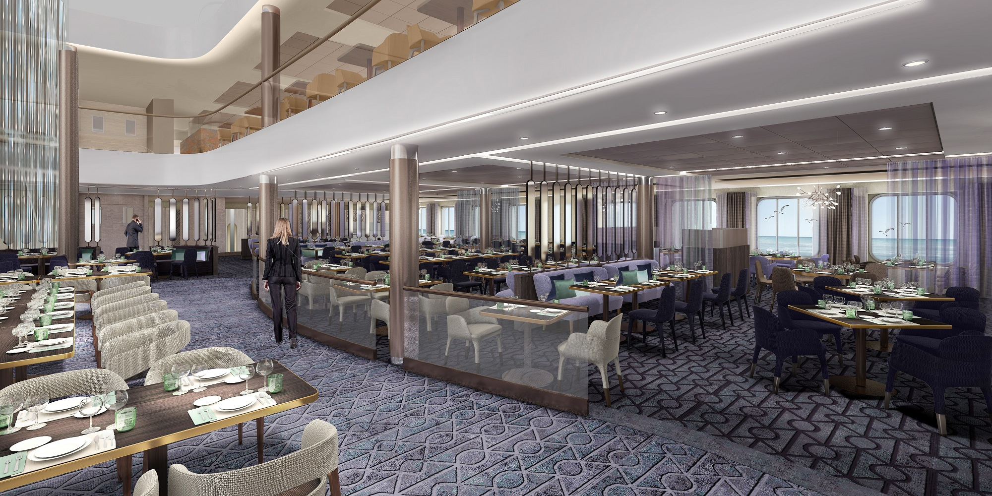 Design von Cm Design: Das Restaurant Atlantik auf der neuen Mein Schiff 2 von TUI Cruises