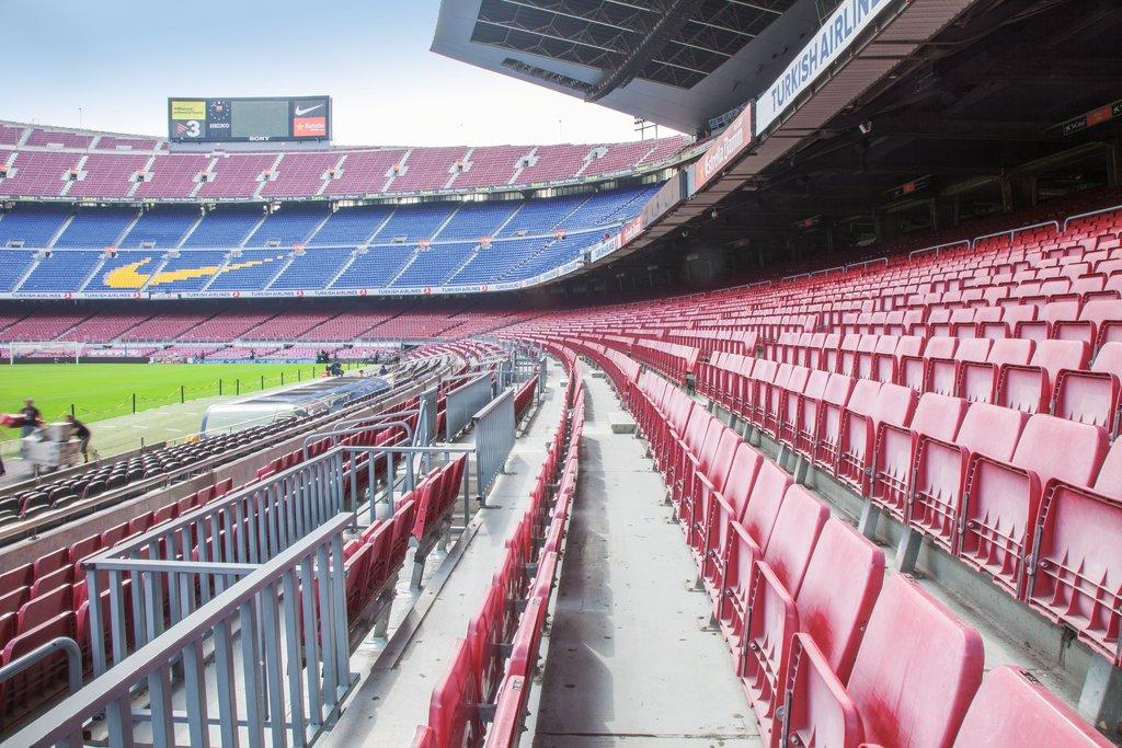 Blick ins Camp Nou vom FC Barcelona