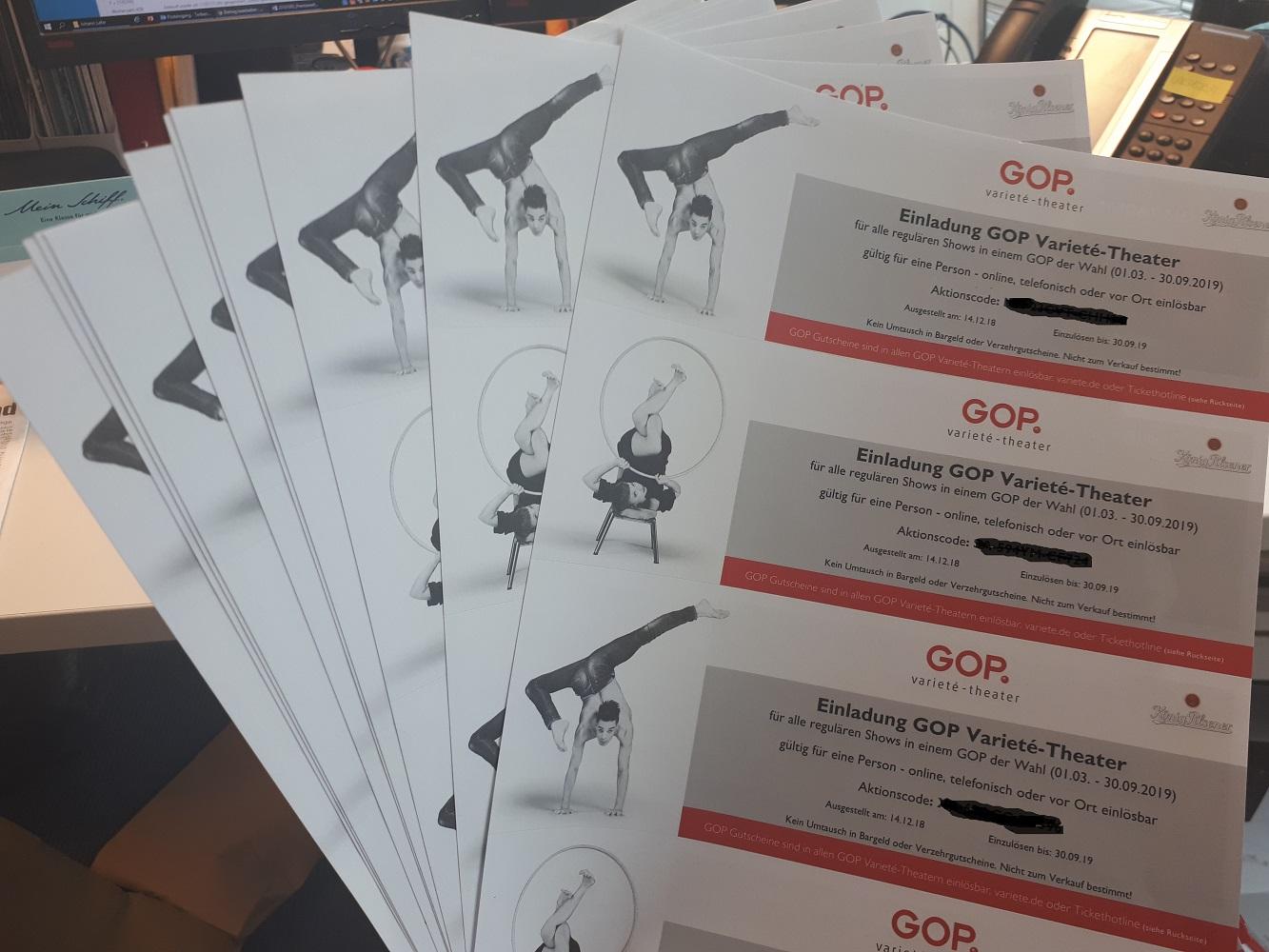 Gewinne, Gewinne, Gewinne: TUI Cruises und GOP verlosen 20x2 Tickets für eine GOP Show