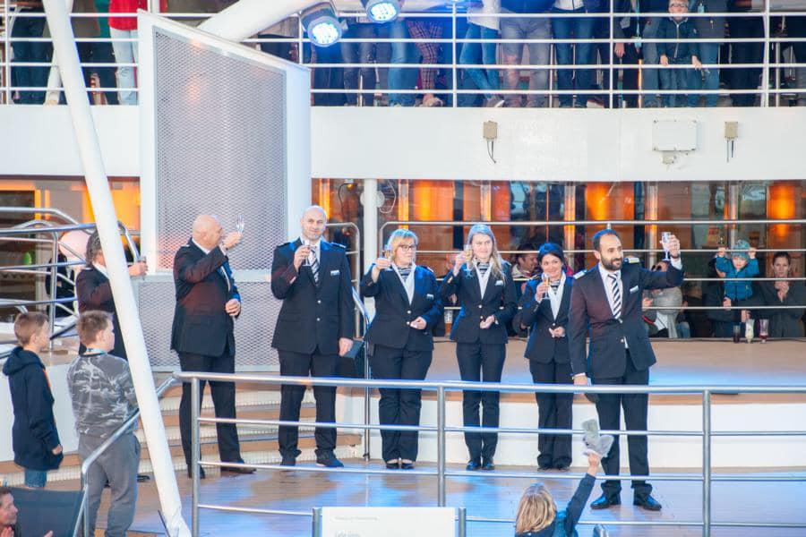 Die Führungscrew der Mein Schiff Herz von TUI Cruises