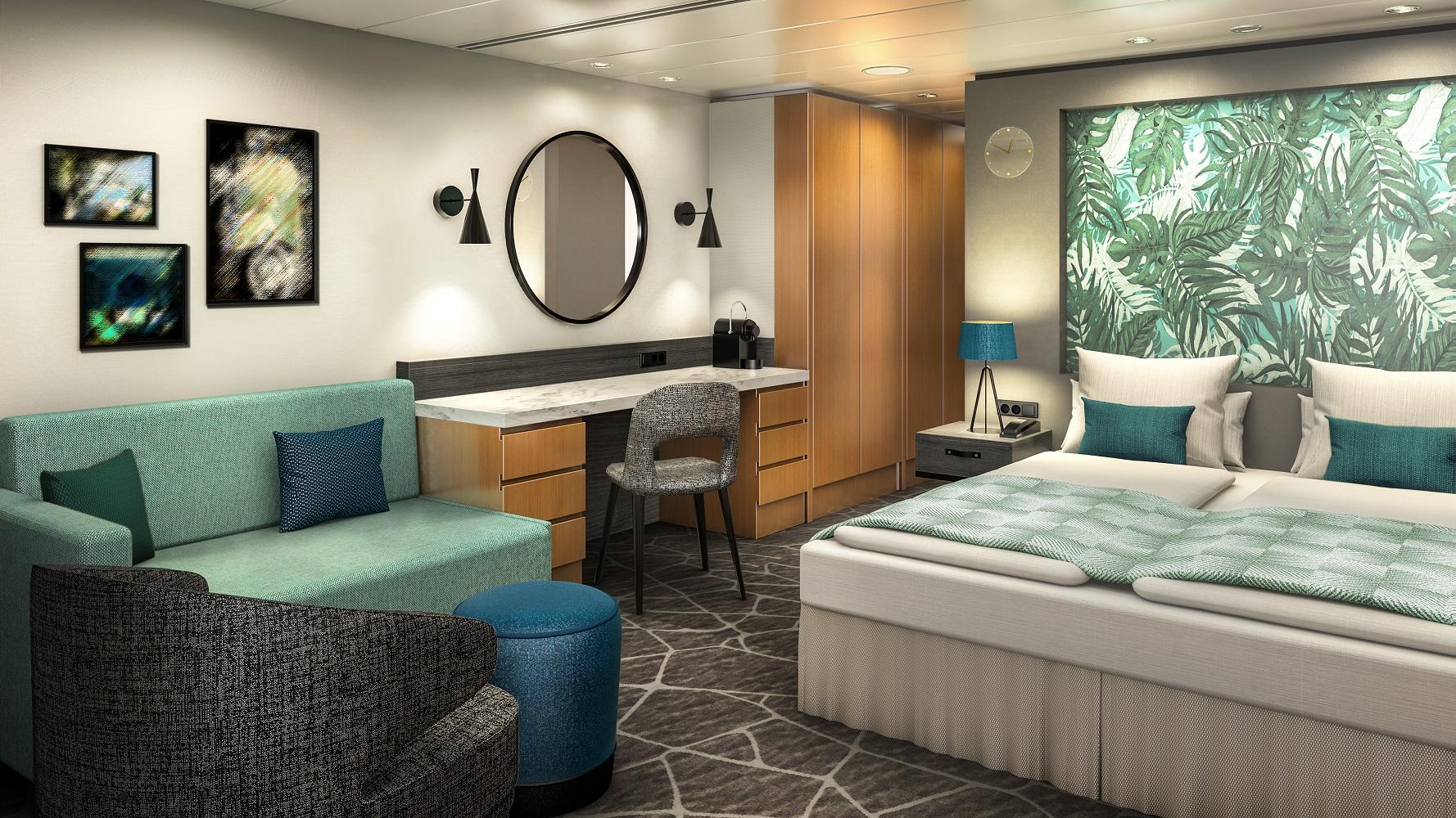 So wird die Junior Suite auf der Mein Schiff Herz aussehen