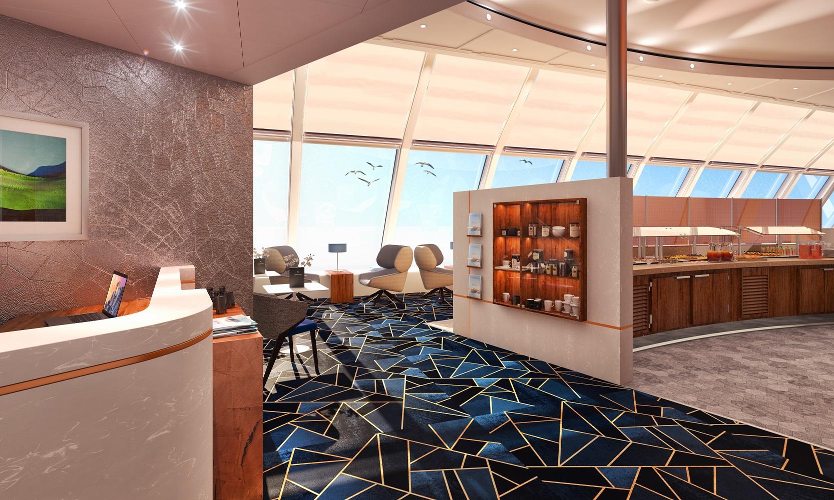 So wird die X-Lounge auf der Mein Schiff Herz aussehen