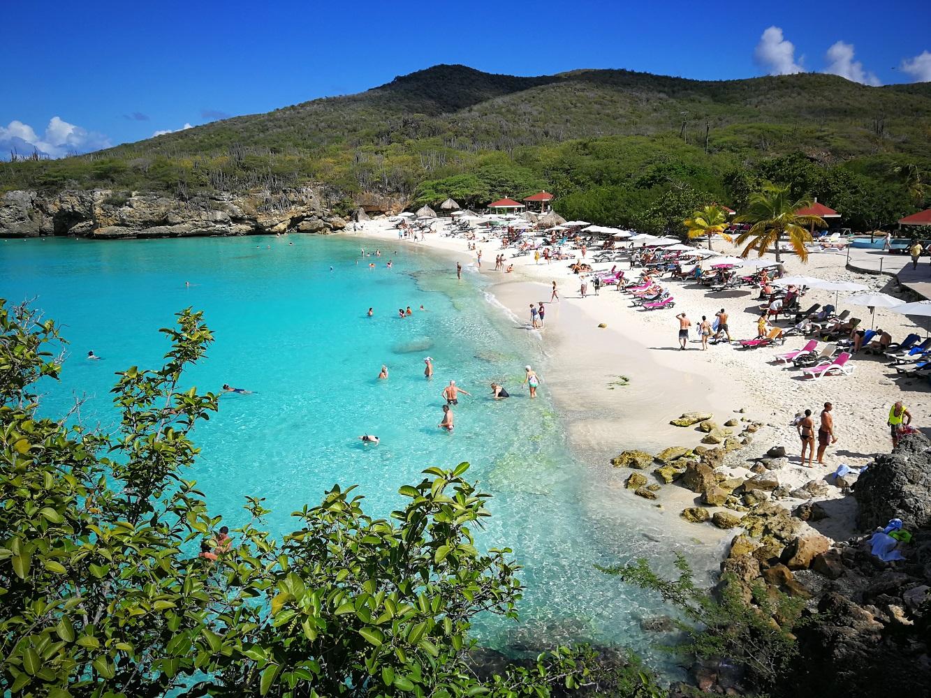 Mein Schiff Ausflug: Knip Beach auf Curacao - auch von oben wunderschön