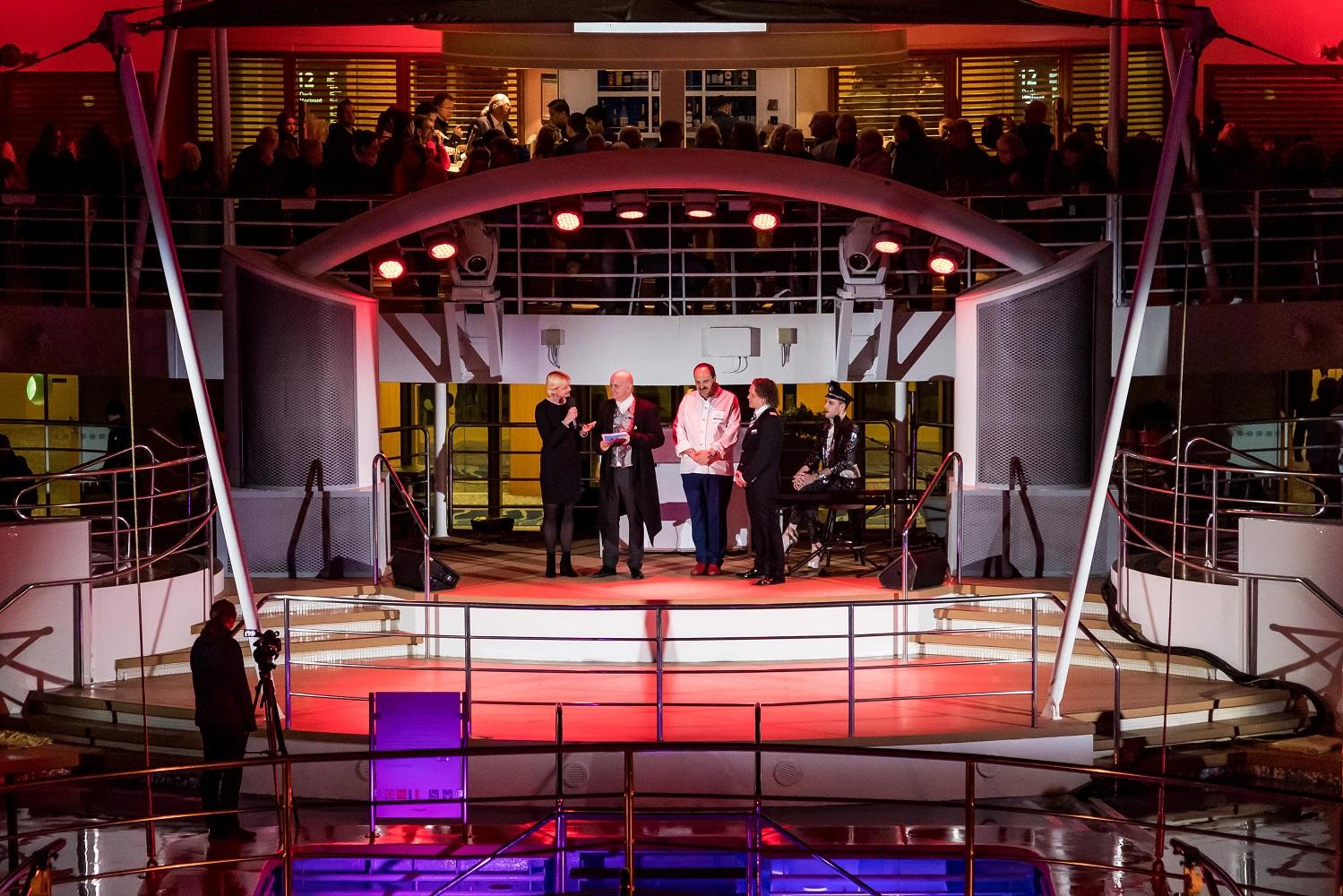 Anja Fichtel und Johann Lafer bei der Premierenfeier der Mein Schiff Herz